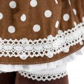 Milk стоячая в платье в горох