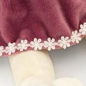 Собачка Лапуська в бархатном платье