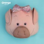 Подушка Свинюшка с бантиком