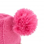 Ежинка в шапке с двумя помпонами