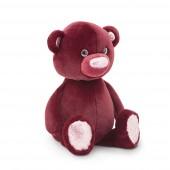 Пушистик Медвежонок бордовый