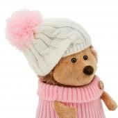 Ежинка Колючка в шапке с розовым помпоном